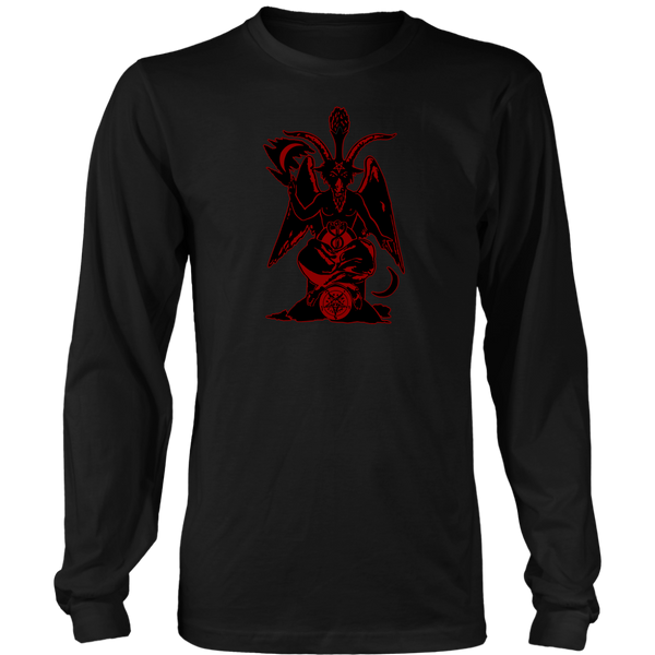 Baphomet ( Black/Red ) - Long Sleeve