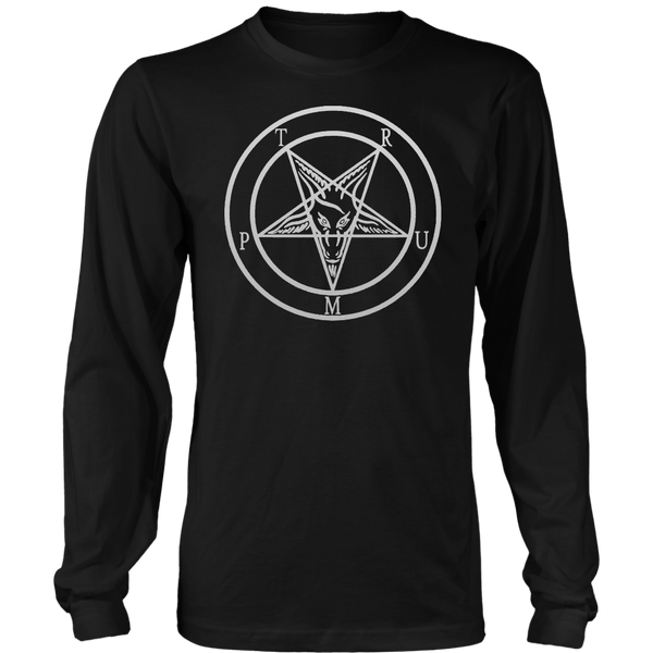 Trump Baphomet - District Long Sleeve Shirt