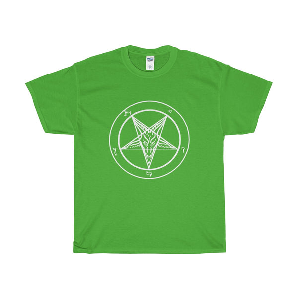 Large Baphomet - Worn Look-  Front -Heavy Cotton T-Shirt
