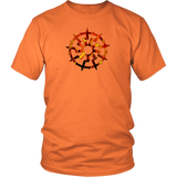 Black Sun - 9 Spoke Fire - Uni Sex quality T-Shirt