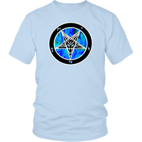 Baphomet Blue Flame -Double sided SIN shirt -