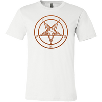 Trump Baphomet - Front and Back -Canvas Mens Shirt