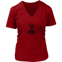 Thor Hammer-District Womens V-Neck