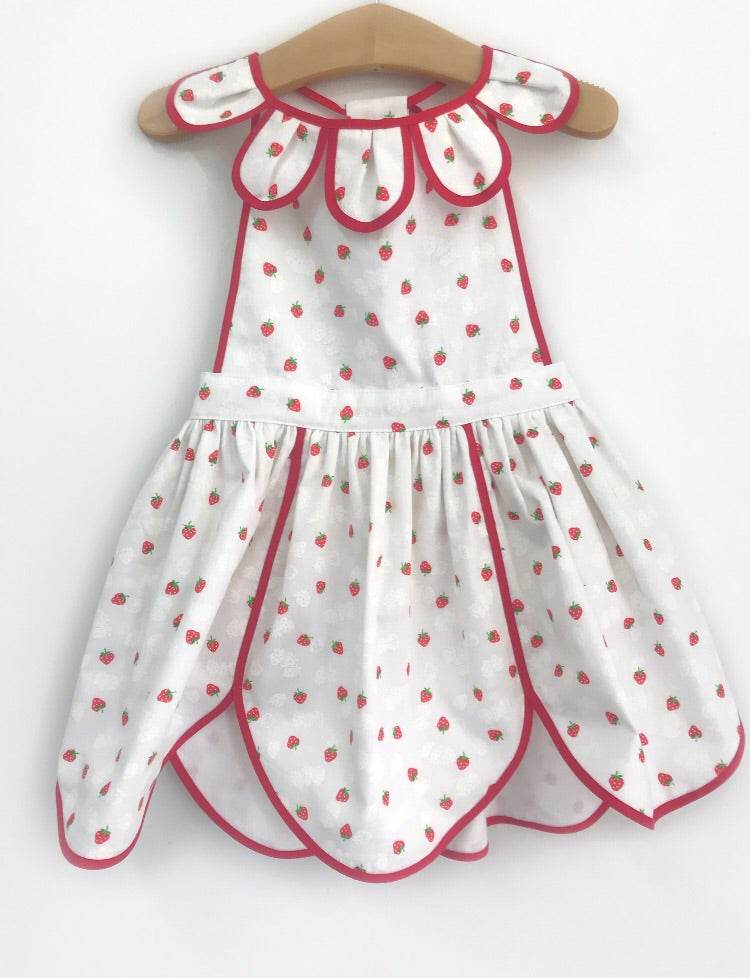Strawberries & Cream Petal Pinny