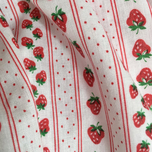 Strawberry Stripes Petal Pinny