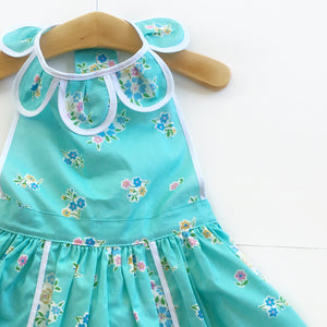 Pool Blue FloralPetal Pinny