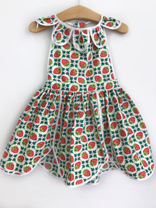 Strawberry Patches Petal Pinny
