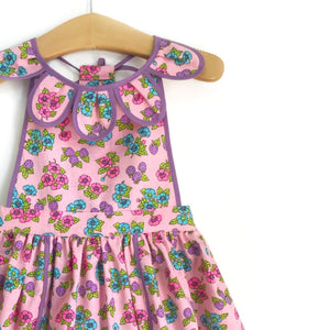 Purple Strawberry Petal Pinny