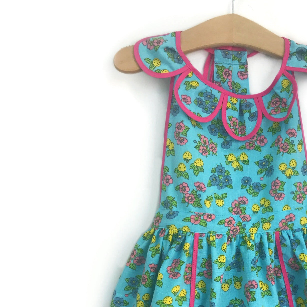 Blue Strawberry Petal Pinny