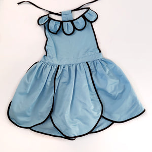 Size 4 Alice Blue Petal Pinny