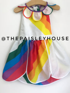 Over The Rainbow Vintage Petal Pinny