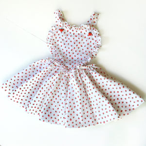 Strawberry Vintage Heart Pinny