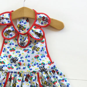 Size 2 Strawberry Minnie Vintage Petal Pinafore