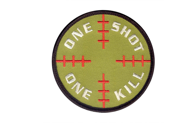 Rothco One Shot One Kill Patch - Stryker Airsoft