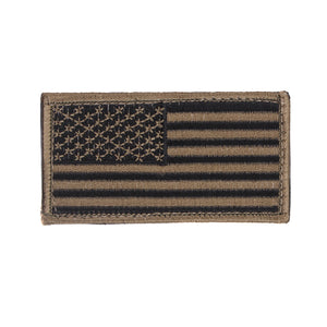 Rothco American Flag Patch - Regular (Black/Khaki) - Stryker Airsoft