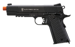 Elite Force 1911 TAC CO2 Blowback Pistol Airsoft Gun (Black) - Stryker Airsoft