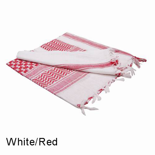 Condor Outdoor Shemagh (White/Red)
