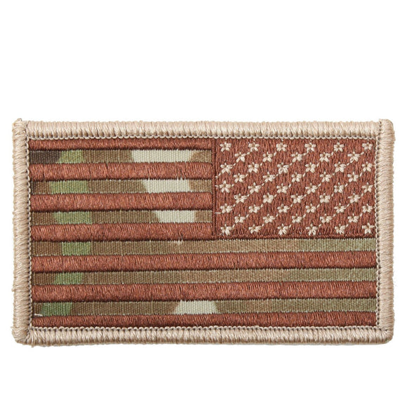 Rothco American Flag Patch - Reverse (Multicam) - Stryker Airsoft
