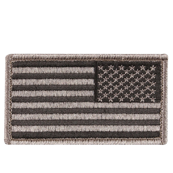 Rothco American Flag Patch - Reverse (Black/Khaki) - Stryker Airsoft