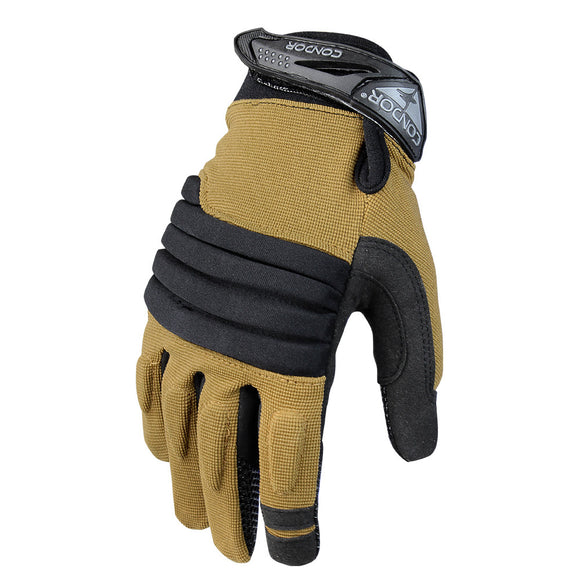 Condor Outdoor Stryker Padded Knuckle Gloves (Tan) - Stryker Airsoft