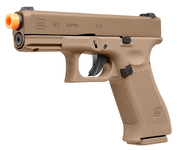 Elite Force GLOCK 19X Gen. 3 Gas Blowback Pistol Airsoft Gun (Coyote) - Stryker Airsoft