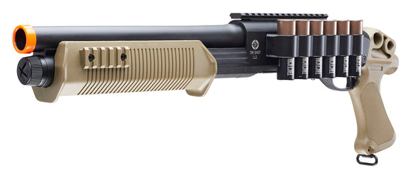 Elite Force Tactical Force Tri-Shot Spring Shotgun Airsoft Gun (Black/Tan) - Stryker Airsoft