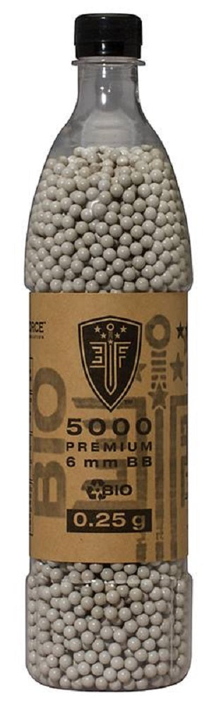 Elite Force Premium Biodegradable 0.25g 5000ct 6mm Airsoft BBs - Stryker Airsoft