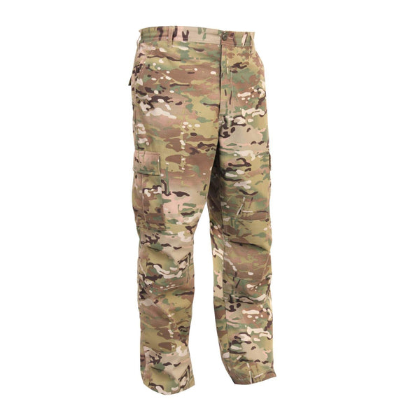 Rothco Camo Tactical BDU Pants - Small (Multicam) - Stryker Airsoft