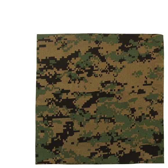 Rothco Digital Camo Bandana (Woodland Digital) - Stryker Airsoft
