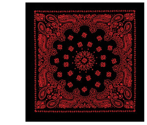 Rothco Trainmen Bandana (Black/Red) - Stryker Airsoft