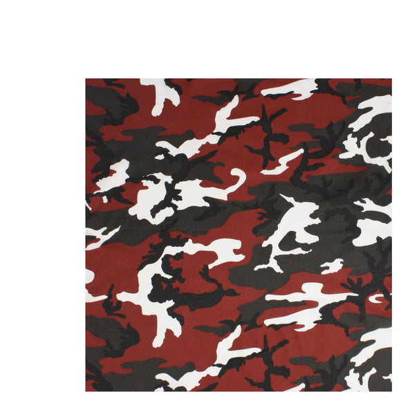 Rothco Colored Camo Bandana (Red) - Stryker Airsoft