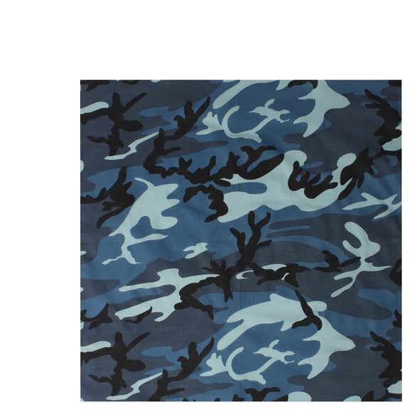 Rothco Colored Camo Bandana (Sky Blue) - Stryker Airsoft