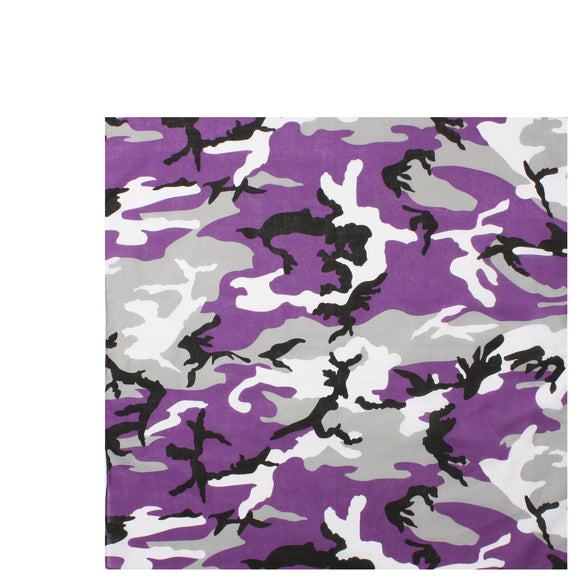 Rothco Colored Camo Bandana (Ultra Violet) - Stryker Airsoft
