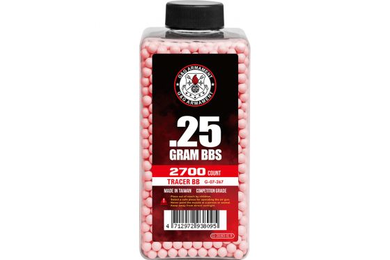 G&G Competition 0.25g 2700ct 6mm Tracer Airsoft BBs (Red)