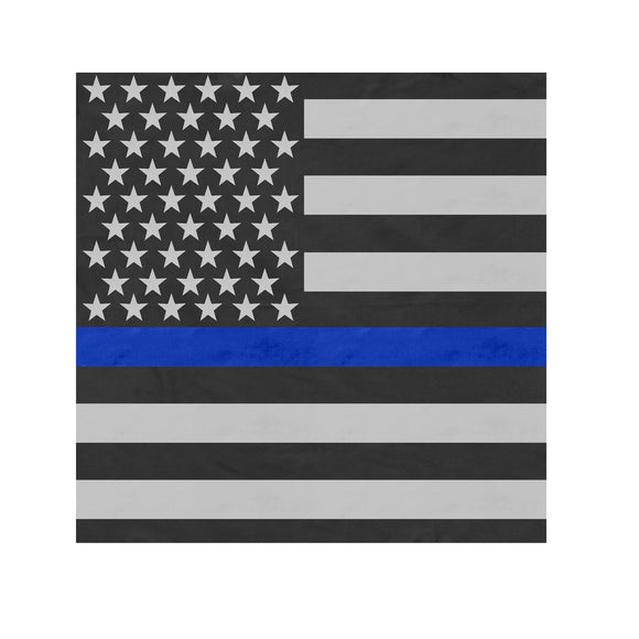 Rothco Thin Blue Line Flag Bandana - 22