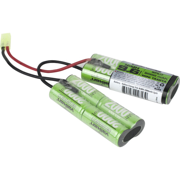 Valken Energy 9.6v 2000mAh NiMH Split Battery - Stryker Airsoft