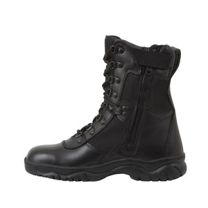"Rothco 8"" Forced Entry Tactical Boots with Side Zipper - Stryker Airsoft"