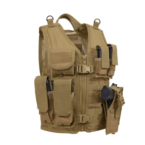 Rothco Kid's Tactical Crossdraw Vest (Coyote Brown) - Stryker Airsoft