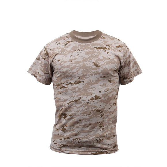 Rothco Kids Digital Camo T-Shirt - Large (Desert Digital) - Stryker Airsoft