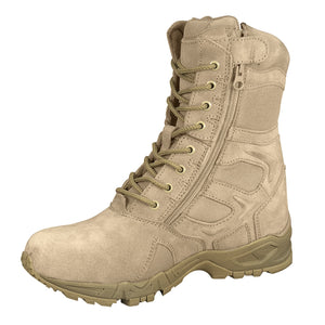"Rothco 8"" Forced Entry Deployment Boots with Side Zipper - Stryker Airsoft"