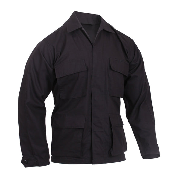 Rothco Rip-Stop BDU Shirt - Small (Black) - Stryker Airsoft