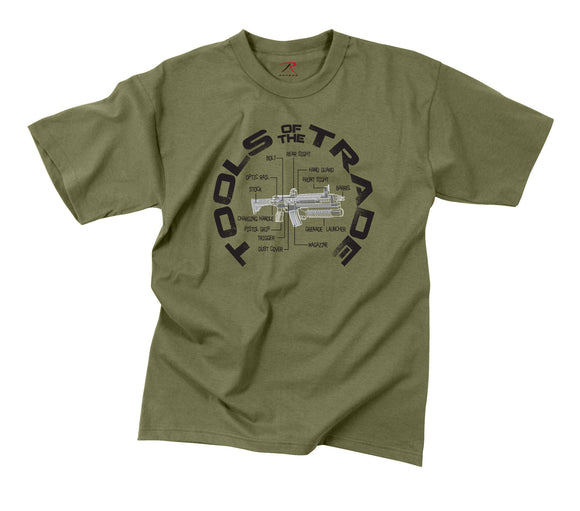 Rothco Vintage Tools Of The Trade T-Shirt - Small (OD)