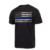 Rothco Thin Blue Line T-Shirt (Black) - Stryker Airsoft