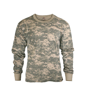 Rothco Long Sleeve Digital Camo T-Shirt - Medium (ACU) - Stryker Airsoft