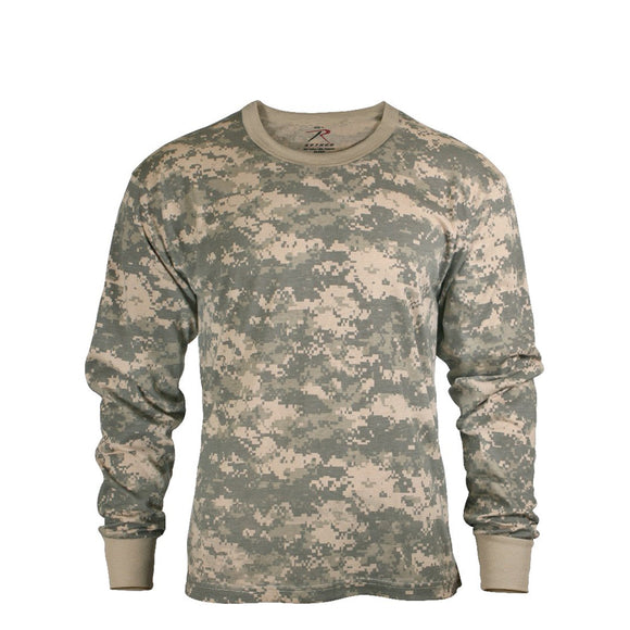 Rothco Long Sleeve Digital Camo T-Shirt - XL (ACU) - Stryker Airsoft