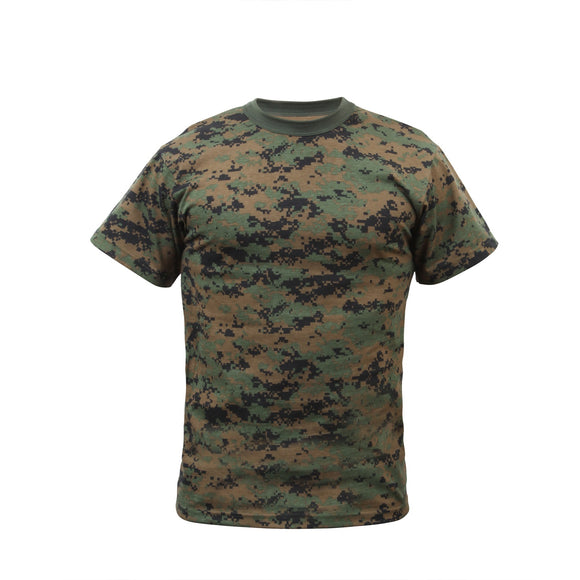 Rothco Kids Digital Camo T-Shirt - Large (Woodland Digital) - Stryker Airsoft