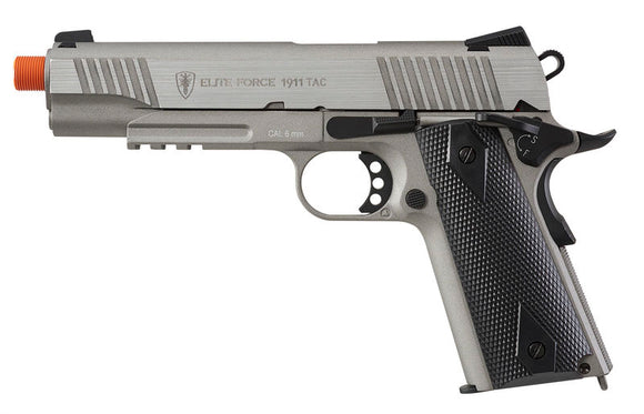 Elite Force 1911 TAC CO2 Blowback Pistol Airsoft Gun (Stainless)