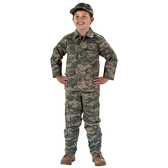 Rothco Kids Digital Camo BDU Pants - XS (ACU) - Stryker Airsoft