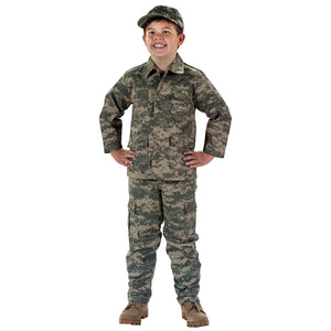 Rothco Kid's Digital Camo BDU Shirt - XS (ACU) - Stryker Airsoft