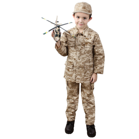 Rothco Kid's Digital Camo BDU Shirt - Large (Desert Digital) - Stryker Airsoft